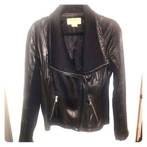 Michael Kors Genuine Leather Moto Jacket
